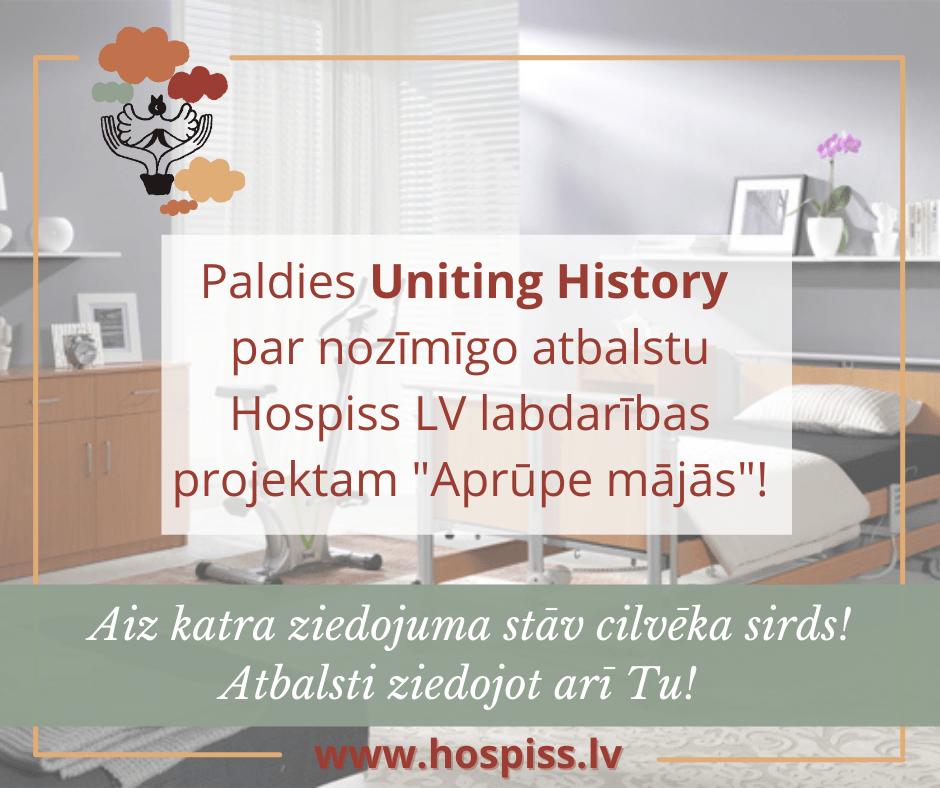 Hospiss LV pateicas Uniting History